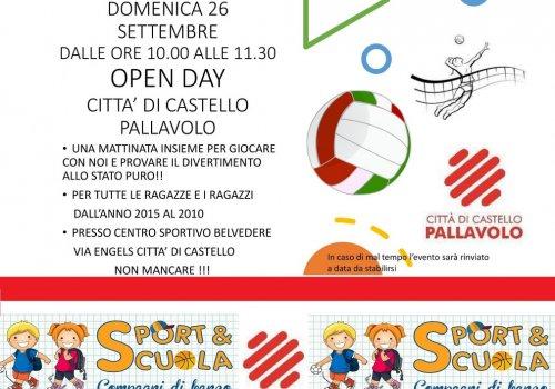 OPEN DAY DI PALLAVOLO - DOMENICA 26 SETTEMBRE 2021