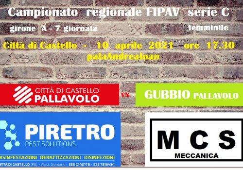 CITTA' DI CASTELLO PALLAVOLO serie C - 7° gara di campionato
