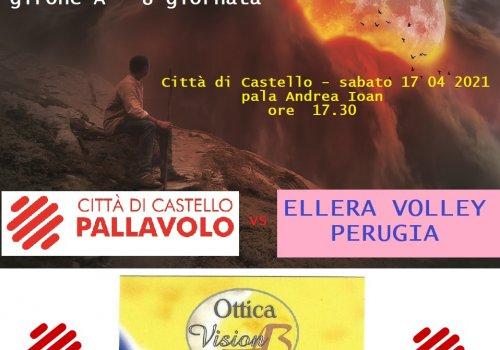 CITTA' DI CASTELLO PALLAVOLO - serie C f. - arriva ELLERA di Corciano
