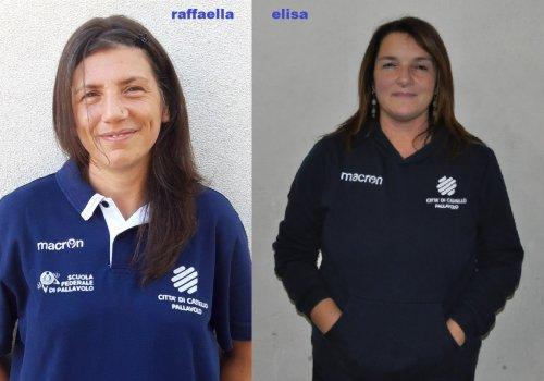 RAFFAELLA RANIERI  &  ELISA MORO ALLENATRICI BIANCOROSSE IN
